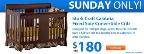 walmart canada daily deal stork 4in1 crib to bed for 180