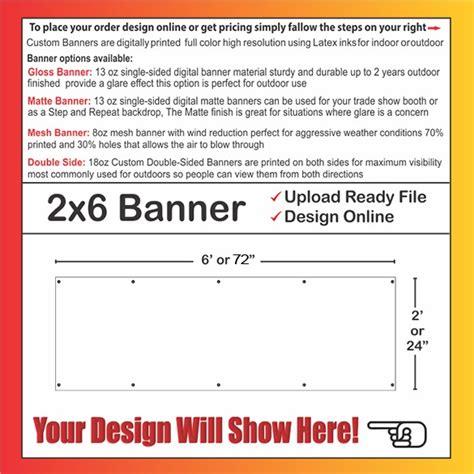 Banner 2 X 6 2x6 Banner Template