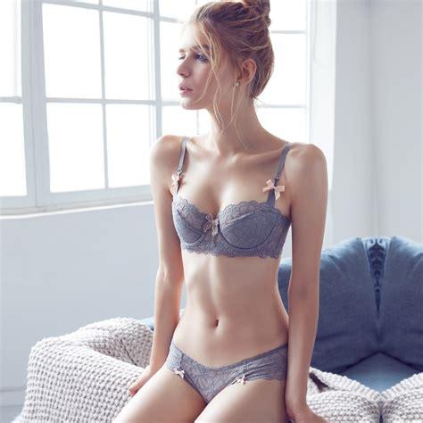 aliexpress buy new underwear women bra set cute bows lace selvedge see through lingerie
