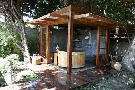 jacuzzi style bathtub outdoor japanese hot tub shower gazebo japanese style pinterest backyards