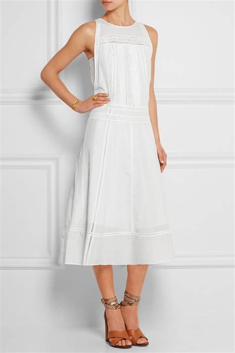 pardi dress j crew pardi broderie anglaise trimmed cotton and silk