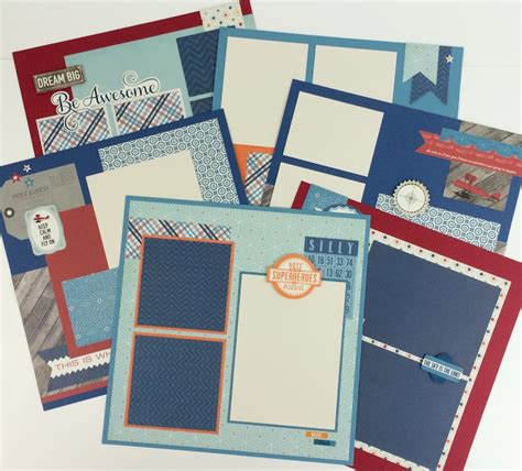 scrapbook layout with 6 photos artsy albums mini album and page layout kits and custom