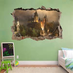 hogwarts wall mural hogwarts harry potter smashed wall decal wall by printadream
