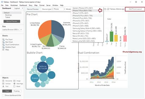 tableau mobile tutorial create tableau dashboard device preview