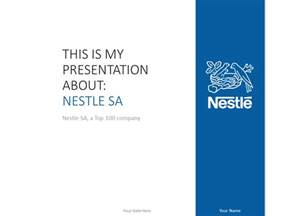 Powerpoint Show Templates by Nestl 233 Powerpoint Template Blue Presentationgo