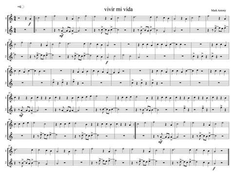 tutorial piano vivir mi vida vivir mi vida flauta dulce 2 voces youtube
