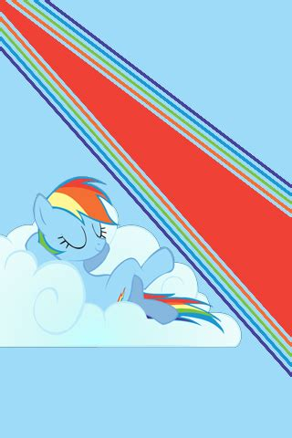 Rainbow Dash Cloud Iphone All Hp rainbow dash relaxation ipod iphone wallpaper by alphamuppet on deviantart
