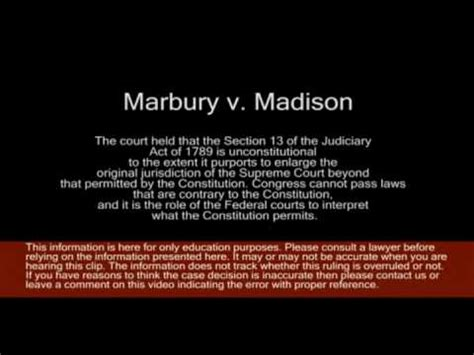 section 13 of the judiciary act of 1789 marbury v madison youtube