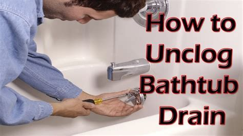 Best Way To Clear A Clogged Sink by What Is The Best Way To Clear A Bathtub Drain Quora