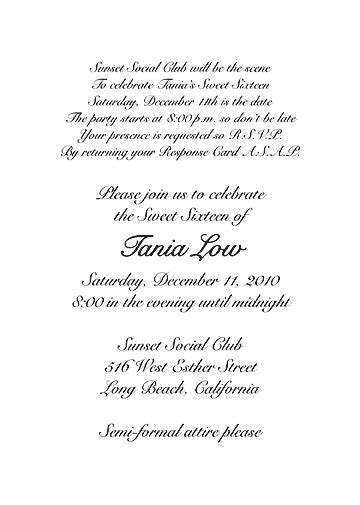 sweet wedding invitation text sweet 16 invitation quotes quotesgram