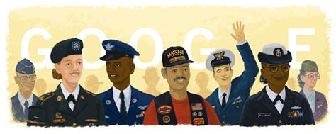 google images veterans day google s veterans day logo has incorrect coast guards uniform