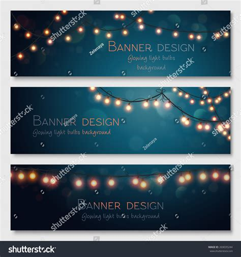 header design stock photos images pictures shutterstock glowing light bulbs design vector banners stock vector