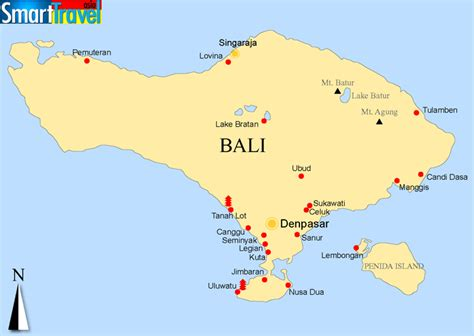 printable road map of bali map of bali travelquaz com