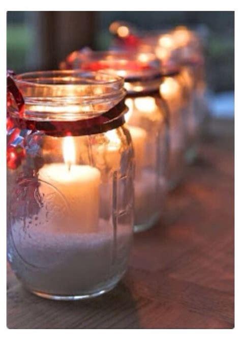 cute christmas decor with a mason jar holiday stuff
