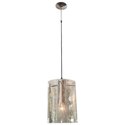 Seeded Glass Pendant Light Custom Silver Seeded Glass Tubular Pendant For Sale At 1stdibs