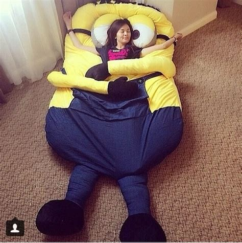minion bed despicable me huge minion bean bag bed