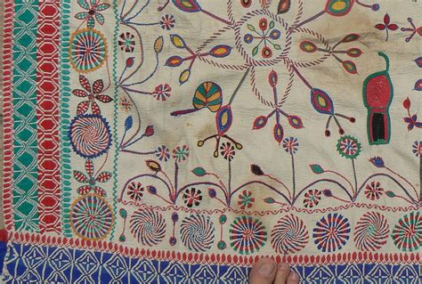 pattern bangla meaning antique indian kantha embroidery quilt from the west