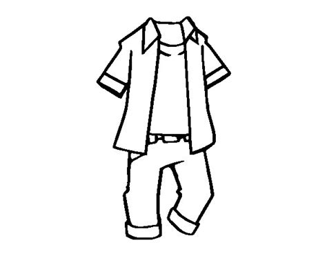 free coloring pages of boys clothes