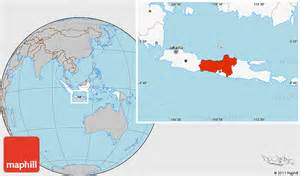 where is the country located on the map gray location map of central java highlighted country