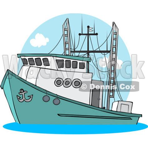 trawler boat clipart royalty free rf clipart illustration of a trawler