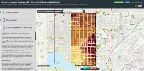 a section on a map that explains the maps features denver s historic streetcar legacy denverurbanism blog