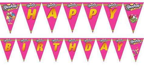 shopkins happy birthday banner printable shopkins birthday banner and party supplies by