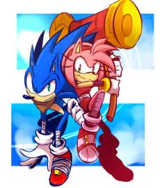 sonic boom sonic and amy by omiza on deviantart