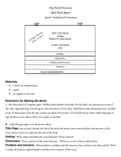 flipped book report book report grade flip book by chuckecheese