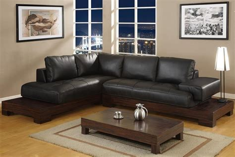 Best Wood For Furniture by L Shaped Sofa On Brown Wooden Base The Best Wood Furniture