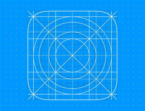 free template ios 11 icon grid eps8 vector illustration on
