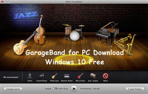 garage band free download garageband for pc download windows 10 free garage band