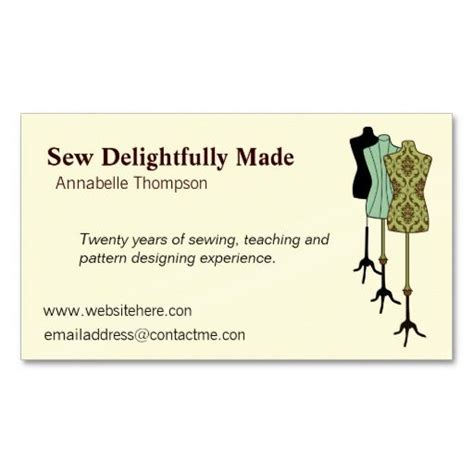 Sewing And Alteration Business Card Template by Sewing Business Card Tailor Business Cards