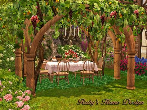 Ruby Garden by Sims 3 Enchanted Garden By Ruby