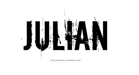 julian name tattoo designs