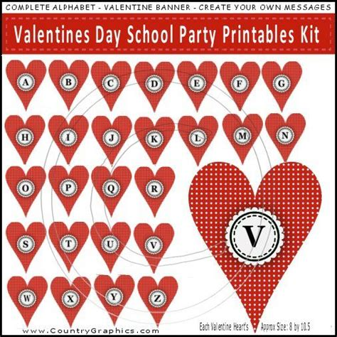valentines day kit valentines day school printables kit country graphics