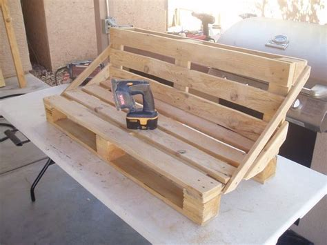 pallet bench project pallet furniture instructions