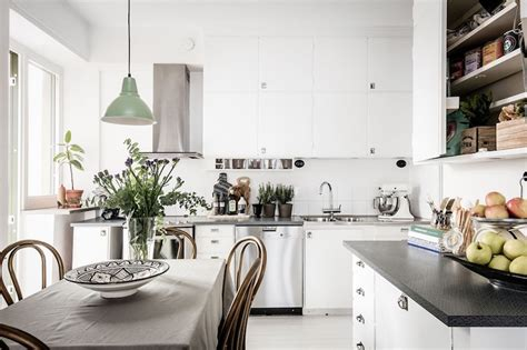 interior decor kitchen modern vintage interior design in swedish apartment