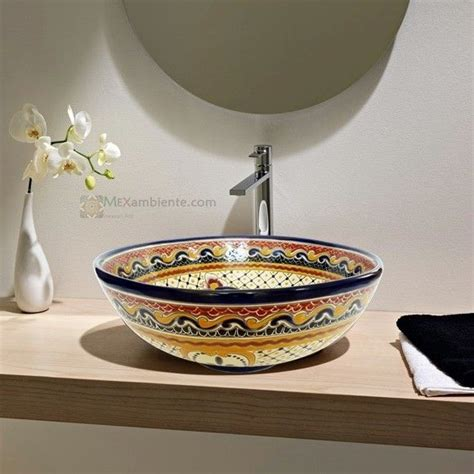 Mediterrane Badezimmer Fliesen 687 by Mexambiente Mexican Sink Mexikanische Waschbecken