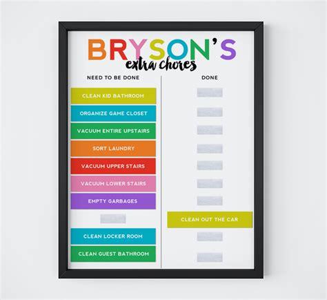 free chore chart printable designer blogs