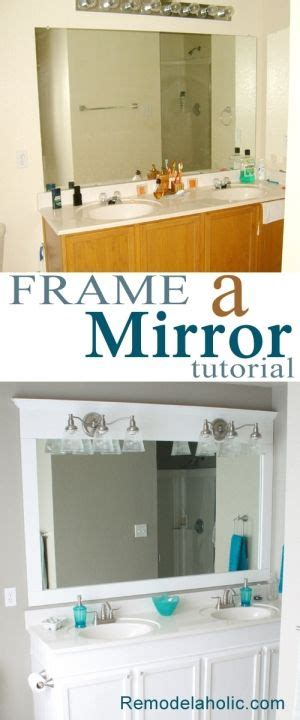 framing a builder grade bathroom mirror 1000 ideas about builder grade on pinterest builder