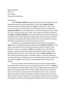 similarities and differences essay compare contrast essay template
