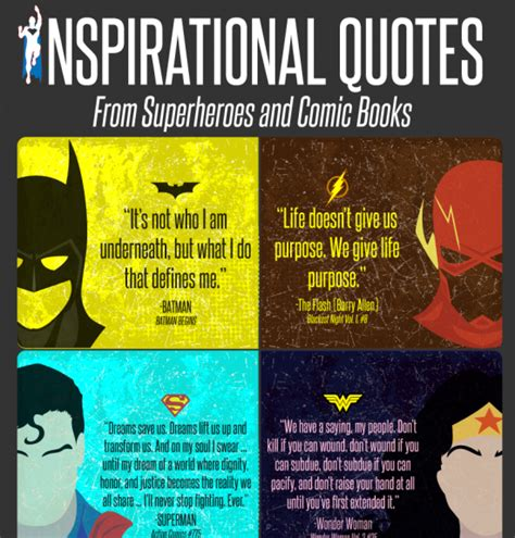 inspirational quotes  superheroes  comic books