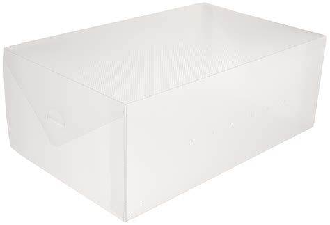 clear shoe storage boxes greenco clear foldable shoe storage boxes 10 pack ebay