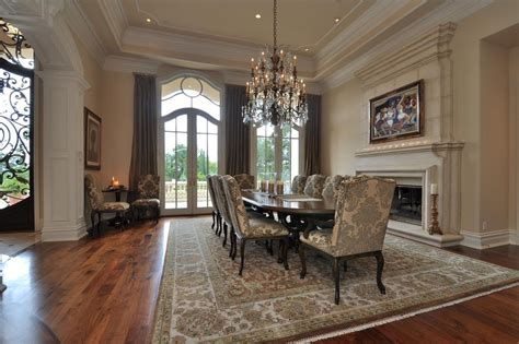 traditional pastel dining room features french dining traditional dining room with french doors crown molding