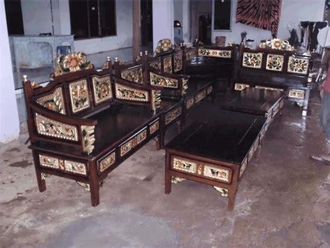Kursi Sudut New Jati 01 kursi tamu jati sudut model ukiran mahkota pengrajin mebel jepara furniture ukir minimalis
