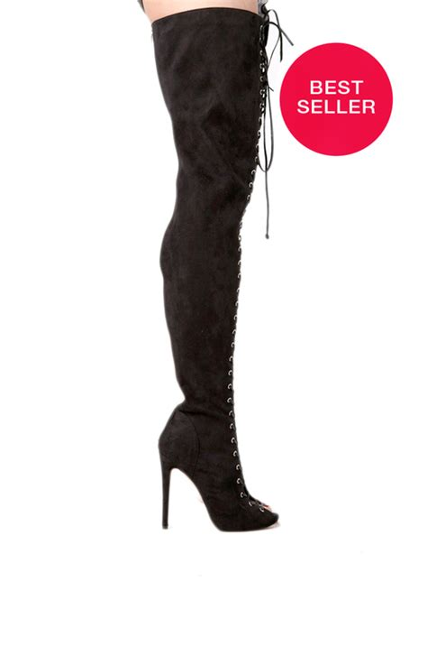 zigi piarry thigh high boot in black boots