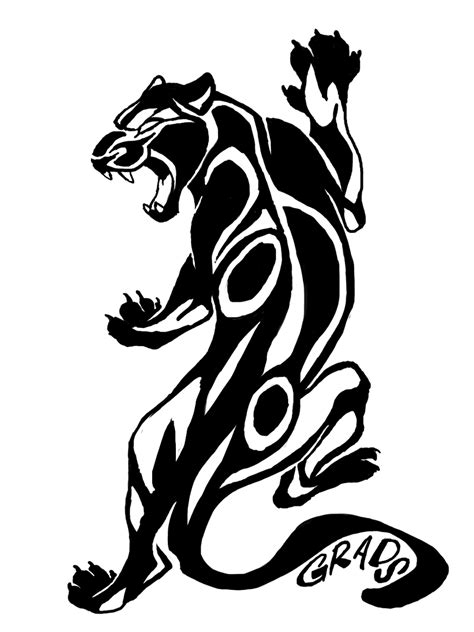 tribal black panther tattoos panther tribal pencil and in color panther