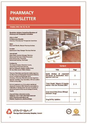 pharmacy newsletter publications aga khan university