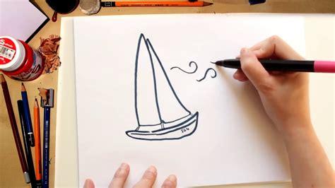 un barco facil de dibujar como dibujar un barco f 225 cil kawaii dibujos de verano