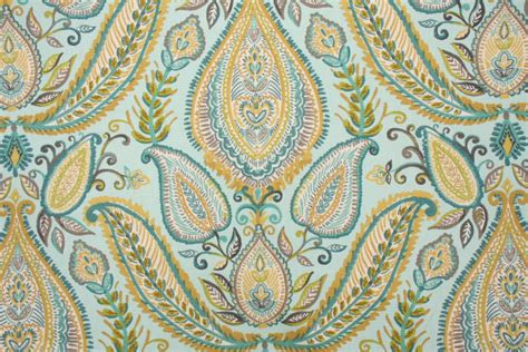 Decorator Drapery Fabric robert allen ombre paisley printed heavy cotton decorator fabric in pool